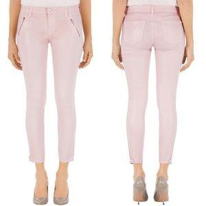 J Brand Carey Skinny Zipped Crop Jean Rose Blush